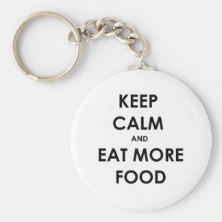 Keep calm and eat food keychain