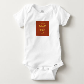 Keep Calm and eat Fool Baby Onesie