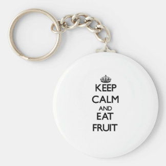 Keep calm and eat Fruit Key Chains