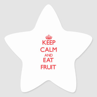 Keep calm and eat Fruit Star Sticker