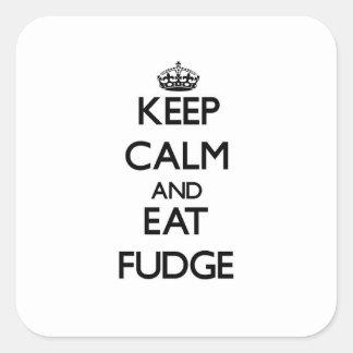 Keep calm and eat Fudge Square Sticker