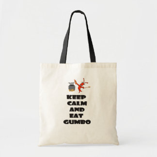Keep Calm and Eat Gumbo Tote Canvas Bags