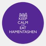 Keep Calm And Eat Hamentashen Classic Round Sticker at Zazzle