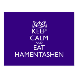 KEEP CALM AND EAT HAMENTASHEN POSTCARD