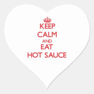 Keep calm and eat Hot Sauce Sticker