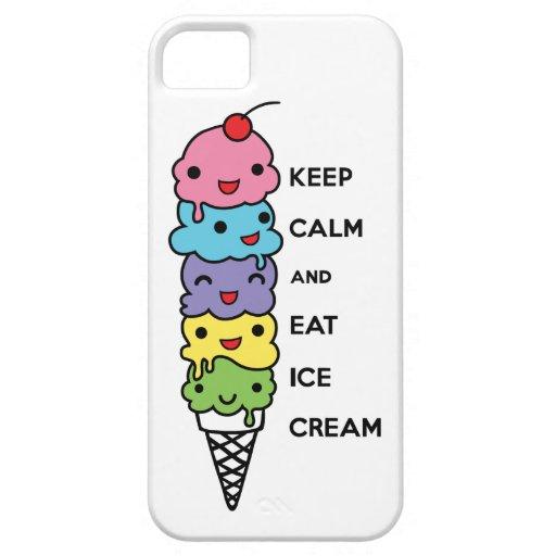 Keep Calm and Eat Ice Cream 1 iphone 5 case