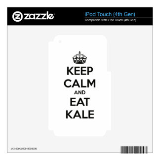 KEEP CALM AND EAT KALE iPod TOUCH 4G SKINS