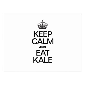 KEEP CALM AND EAT KALE POSTCARDS