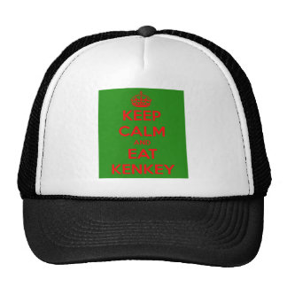 keep calm and eat kenkey trucker hat