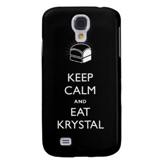 Keep Calm and Eat Krystal iPhone Cover Galaxy S4 Case