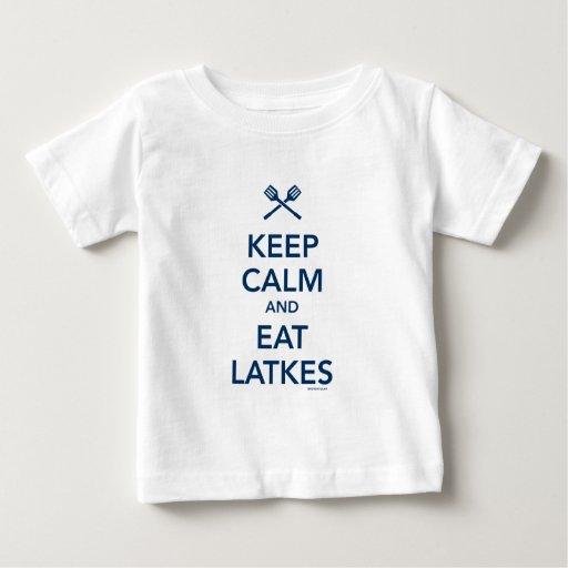 Keep Calm and Eat Latkes Baby T-Shirt