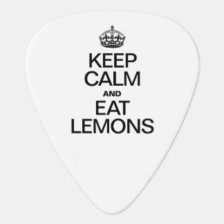 KEEP CALM AND EAT LEMONS GUITAR PICK