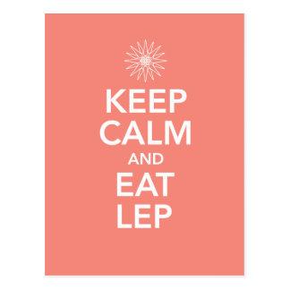 KEEP CALM AND EAT LEP POSTCARD