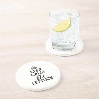 KEEP CALM AND EAT LETTUCE DRINK COASTERS