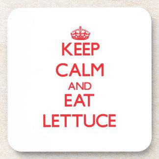 Keep calm and eat Lettuce Coasters