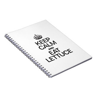 KEEP CALM AND EAT LETTUCE SPIRAL NOTEBOOK