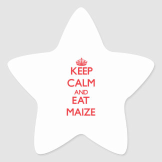 Keep calm and eat Maize Stickers