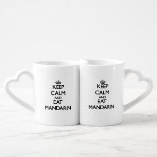 Keep calm and eat Mandarin Couple Mugs
