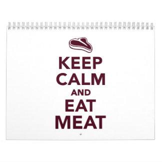 Keep calm and eat Meat Calendar
