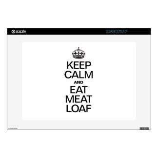 KEEP CALM AND EAT MEAT LOAF LAPTOP DECAL