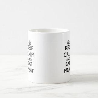 Keep calm and eat Meat Classic White Coffee Mug