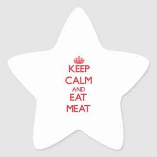 Keep calm and eat Meat Sticker