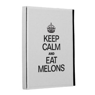 KEEP CALM AND EAT MELONS iPad CASES
