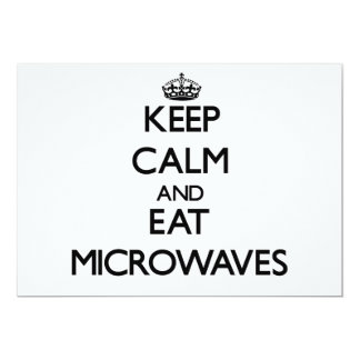 Keep calm and eat Microwaves Invites