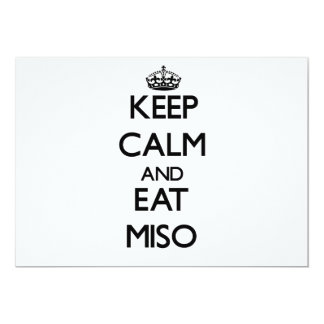 "Keep calm and eat Miso 5"" X 7"" Invitation Card"