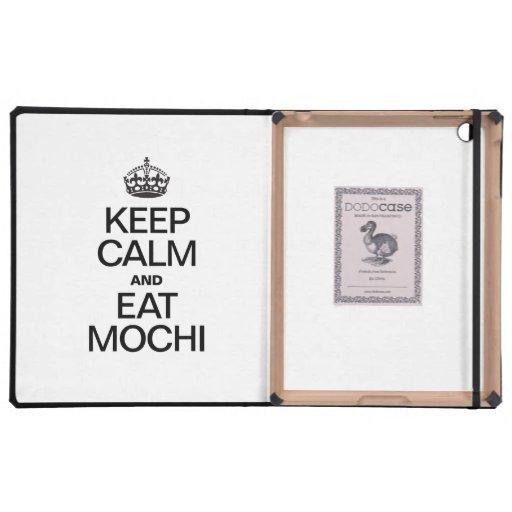 KEEP CALM AND EAT MOCHI iPad FOLIO CASES
