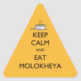 Keep Calm and Eat Molokheya Triangle Stickers