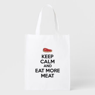 Keep Calm And Eat More Meat Market Tote