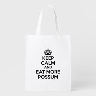 Keep Calm And Eat More Possum Reusable Grocery Bag