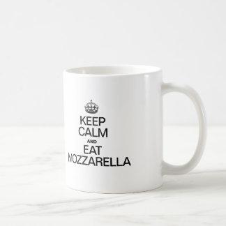 KEEP CALM AND EAT MOZZARELLA. COFFEE MUG