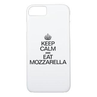 KEEP CALM AND EAT MOZZARELLA iPhone 8/7 CASE