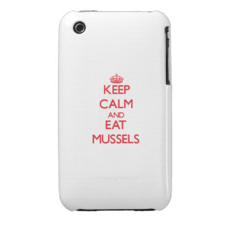 Keep calm and eat Mussels iPhone 3 Case-Mate Cases