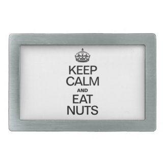 KEEP CALM AND EAT NUTS BELT BUCKLES