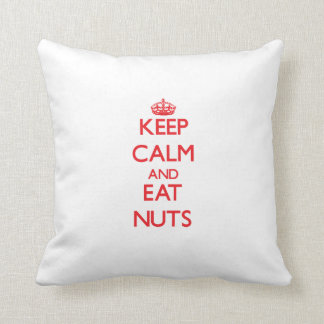 Keep calm and eat Nuts Throw Pillow