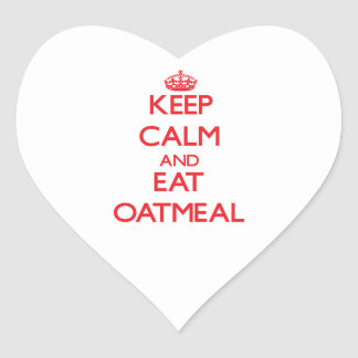 Keep calm and eat Oatmeal Heart Sticker