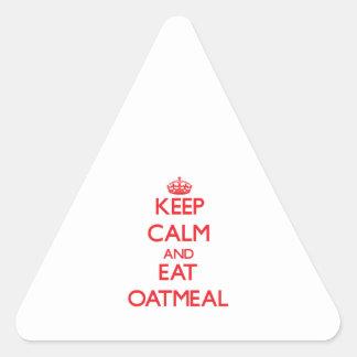 Keep calm and eat Oatmeal Triangle Sticker