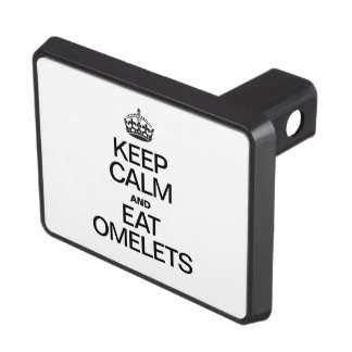 KEEP CALM AND EAT OMELETS TRAILER HITCH COVERS