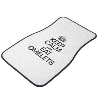 KEEP CALM AND EAT OMELETS FLOOR MAT