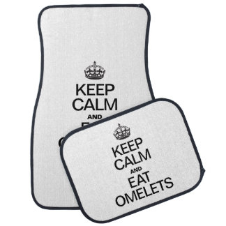 KEEP CALM AND EAT OMELETS CAR MAT