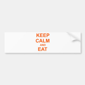 Keep Calm and Eat On orange pink red Bumper Sticker