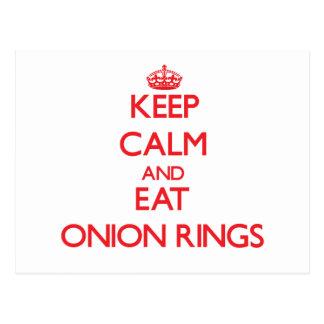 Keep calm and eat Onion Rings Postcard