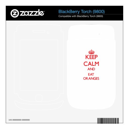 Keep calm and eat Oranges BlackBerry Torch Skins