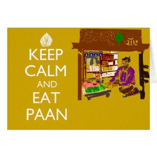 Keep Calm And Eat Paan Card