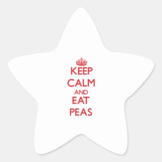 Keep calm and eat Peas Star Sticker