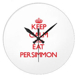 Keep calm and eat Persimmon Wallclock
