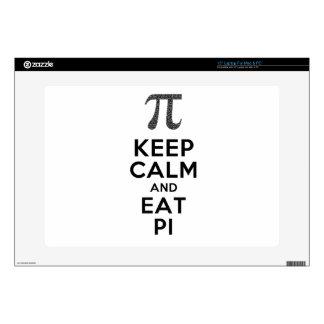 "Keep Calm And Eat Pi Phrase Math Humor 15"" Laptop Skin"